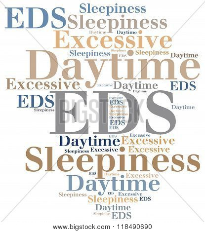 Eds - Excessive Daytime Sleepiness. Disease Concept.