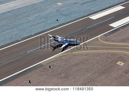 Jet Leaving Runway