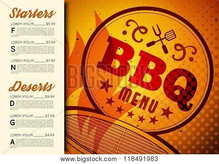 BBQ brochure menu design
