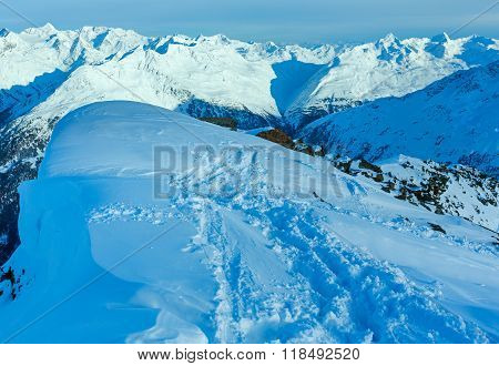 Winter Mountain Landscape  (austria).