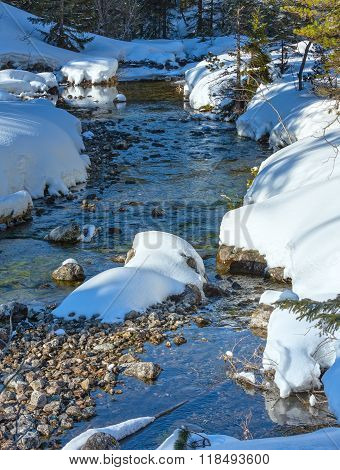 Winter Mountain Stream.