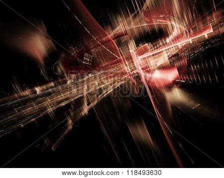 Abstract background design.Red and black colors. Detailed computer graphics.