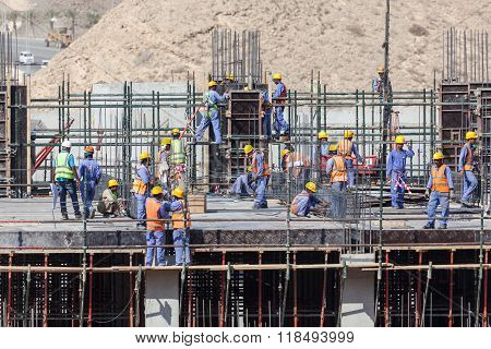 Workers At A Construction Site