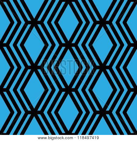 Bright Textured Endless Pattern, Vertical Continuous Intertwine Textile, Geometric Motif Ba