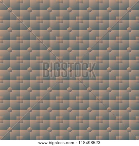 Illuminated Volume Seamless Texture Of Square And Round Tiles