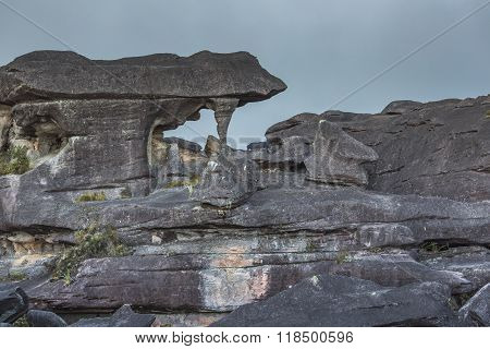 Bizarre Ancient Rocks Of The Plateau Roraima Tepui - Venezuela, Latin America
