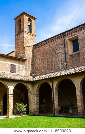 The Cloister In The Church Of San Francesco In Chiusi Near Siena, Tuscany