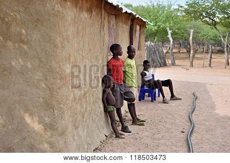 Himba Boys, Namibia