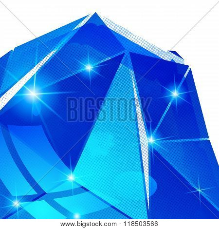 Textured Background With Plastic Deformed Flash Object, Dimensional Backdrop With Pixilated Figure C
