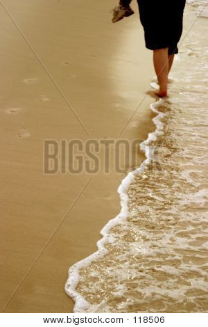 Walking Down Beach