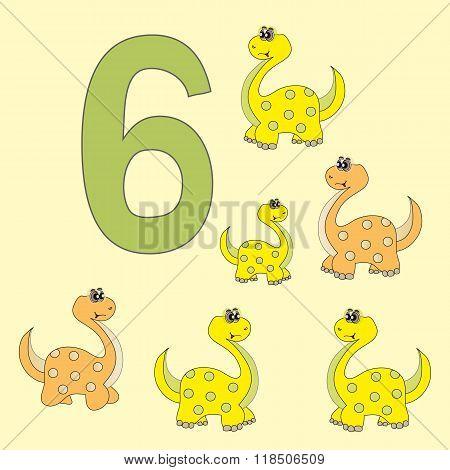 Number 6. Six Dinosaur (brontosaurus) .