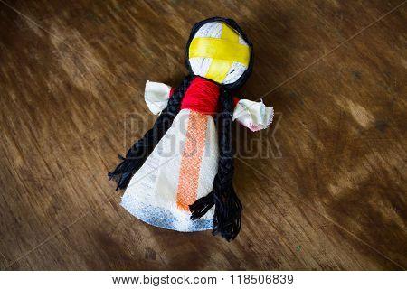 The Ukrainian national doll motanka