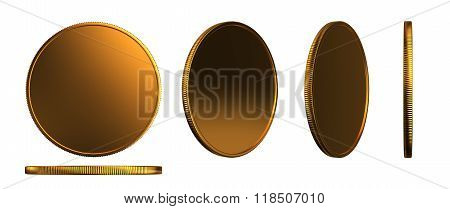 Gold Coins Three Dimension