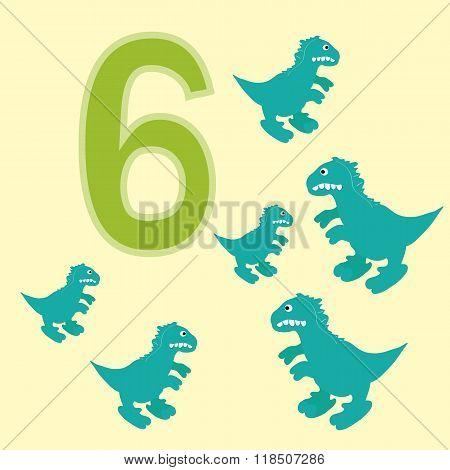 Number 6. Six Dinosaur (tyrannosaurus) .