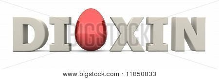Egg Word Dioxin Eggshell White-glossy Red