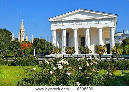 Temple Of Theseus In Vienna Volksgarten, Austria