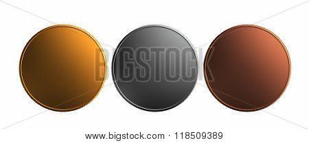 Gold Silver Bronze Coin