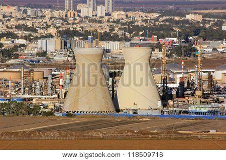 Israeli Oil Refinery In Haifa, Israel