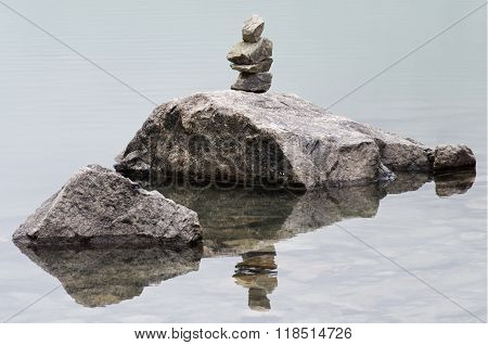 Pieces Of Stacked Rocks