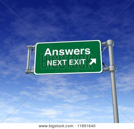 Answers Freeway Exit Sign highway street symbol