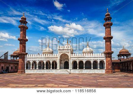 Moti Masjid (Pearl Mosque), Bhopal, Madhya Pradesh, India