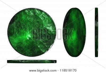 Jade Coin Three Dimension