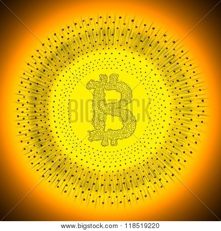 Golden Bitcoin Cryptocurrency Coin