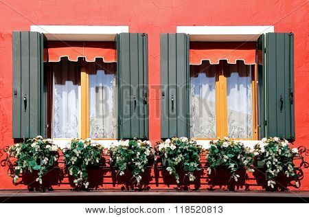 Window With Flowers, Murano, Italy
