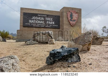 Joshua Tree Park Entry Sign
