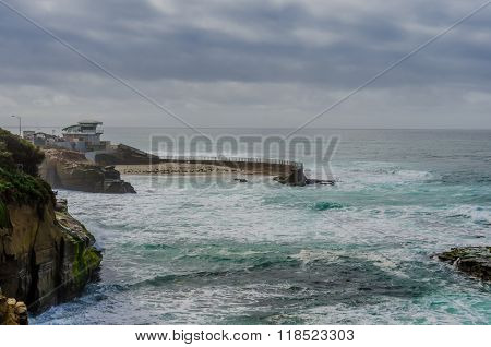 La Jolla Cove On Rainy Day