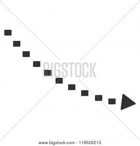 Dotted Decline Trend Vector Icon