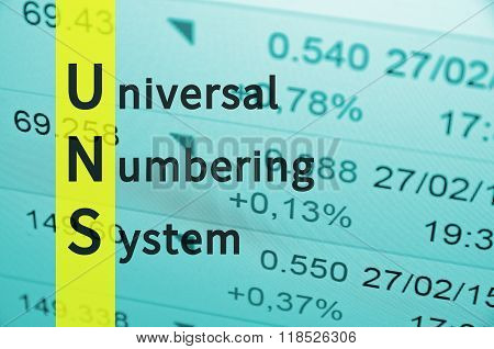 Universal Numbering System
