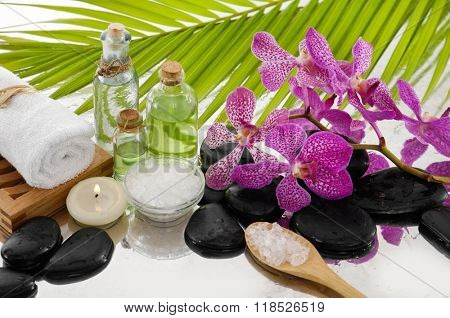 Tropical spa setting