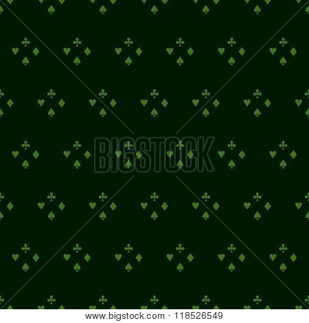 Casino Background.casino  Design Elements Vector Icons. Casino Games On Green Background.