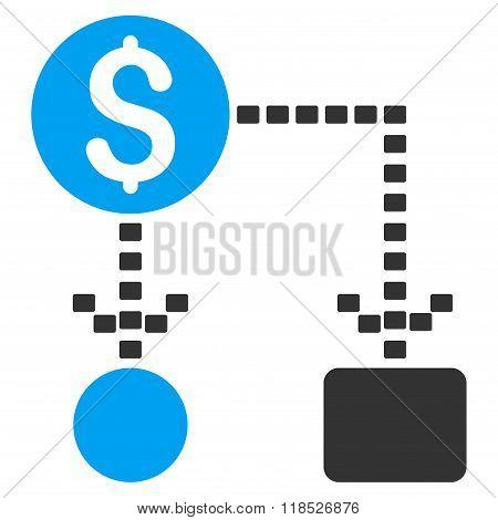 Cashflow Scheme Glyph Icon