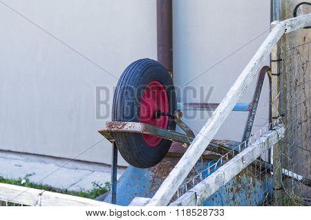 Wheel Barrow Overturned