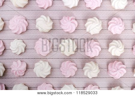 small spiral meringues