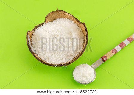 Coconut Powder And Fresh Coconut