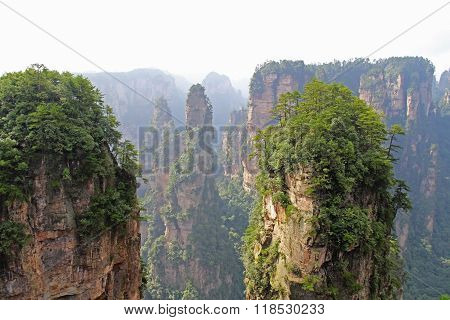 Famous Zhangjiajie National Forest Park In Hunan Province, China.