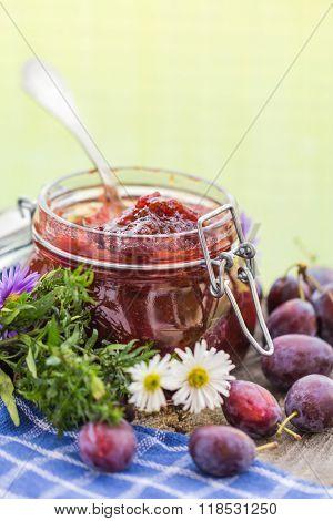 Homemade Preserves Delicious Plum Jam