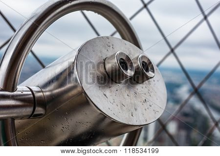 Observation Telescope Of The Eiffel Tower. Paris, France
