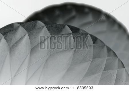 White paper origami