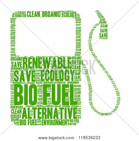 Bio fuel word cloud concept