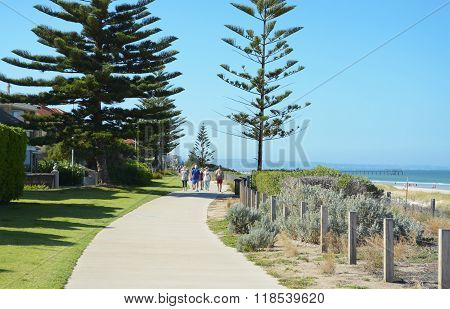 Walking And Cycling Track, Henley Beach, South Australia.