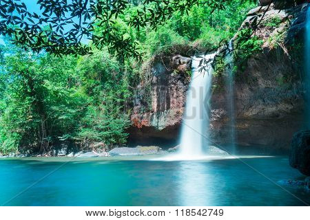 Amazing Beautiful Waterfalls In Deep Forest At Haew Suwat Waterfall In Khao Yai National Park