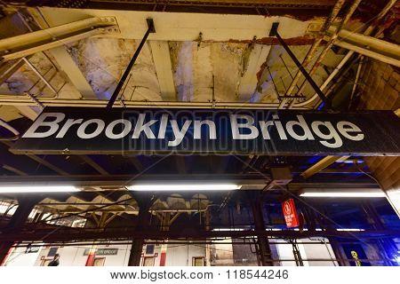 Brooklyn Bridge Subway Station - New York City