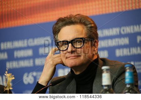 Actor Colin Firth attends the 'Genius' press conference during the 66th Berlinale International Film Festival Berlin at Grand Hyatt Hotel on February 16, 2016 in Berlin, Germany.