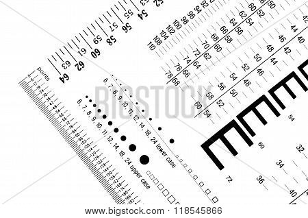 Type Size Gauges And Rulers