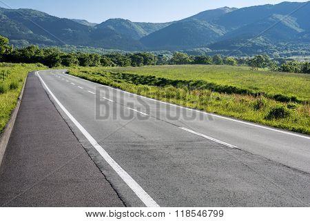 Roadway in plateau