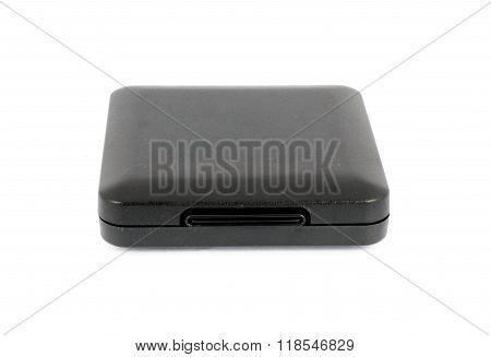 Black Plastic Casket On White Background